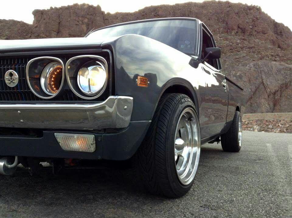 Clean Datsun pickup.