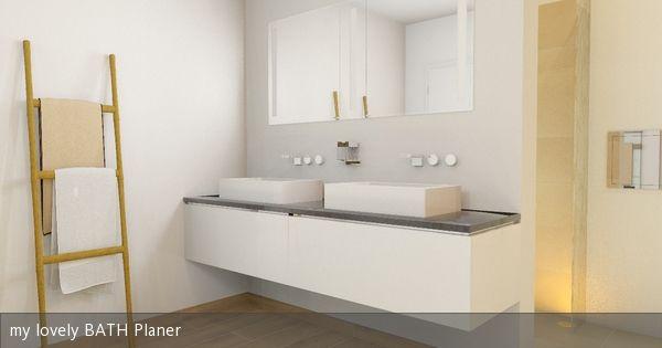 Doppelwaschbecken Alape Badgestaltung Einbau Spiegelschrank Badezimmer