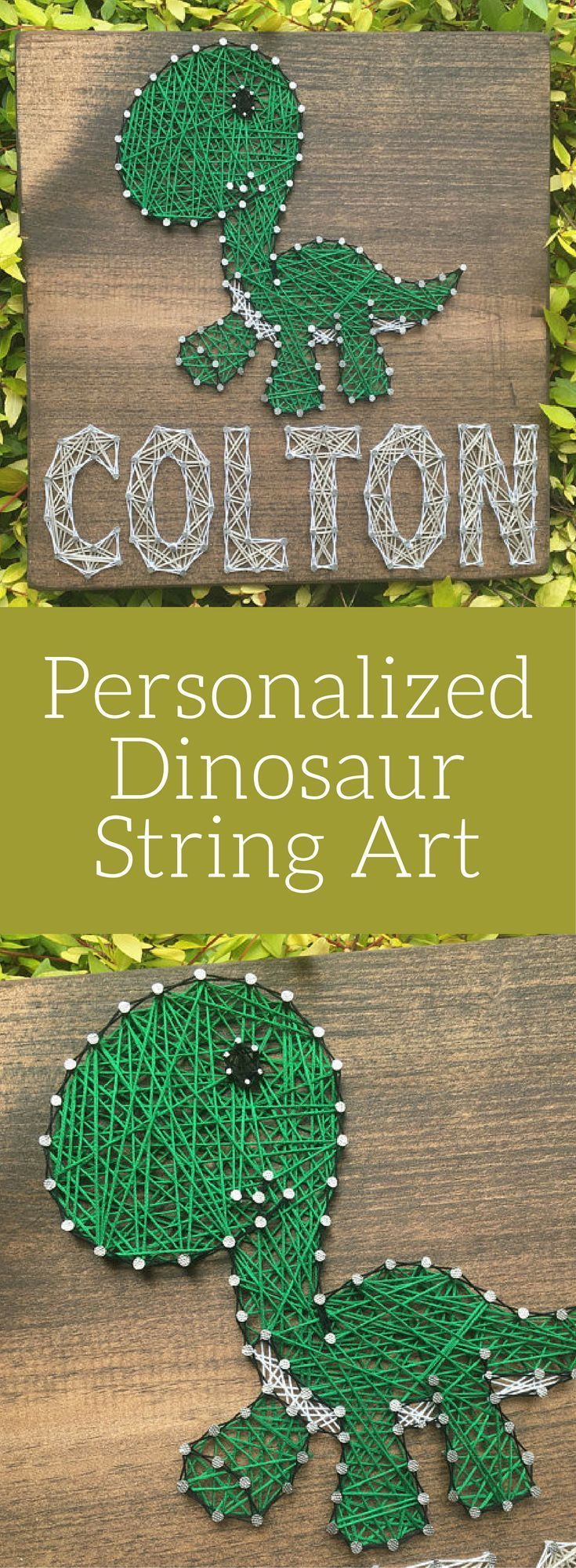 Love the look of string art! Custom Dinosaur String Art ...