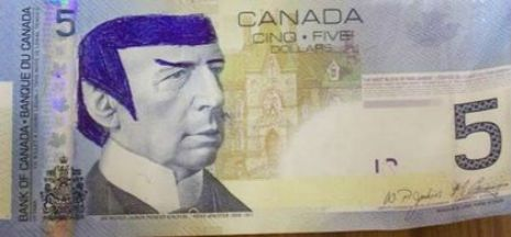 Bank of Canada urges 'Star Trek' fans to stop 'Spocking' their fivers | Dangerous Minds