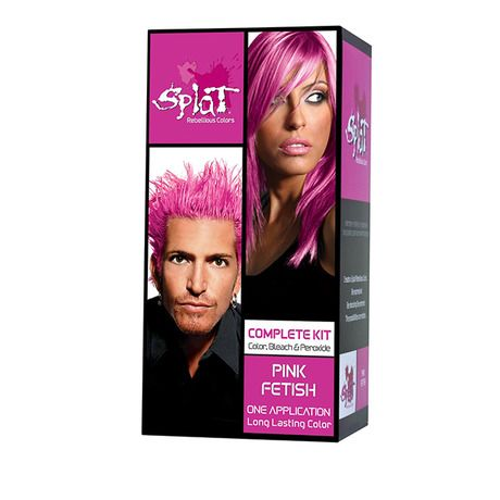 6 Pack Splat Rebellious Colors Hair Coloring Kits At 76 Savings Off Retail Splat Hair Color Splat Hair Dye Splat Hair Bleach