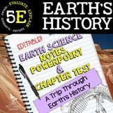 Earth's History: Earth Science PowerPoint, Notes & Test ~