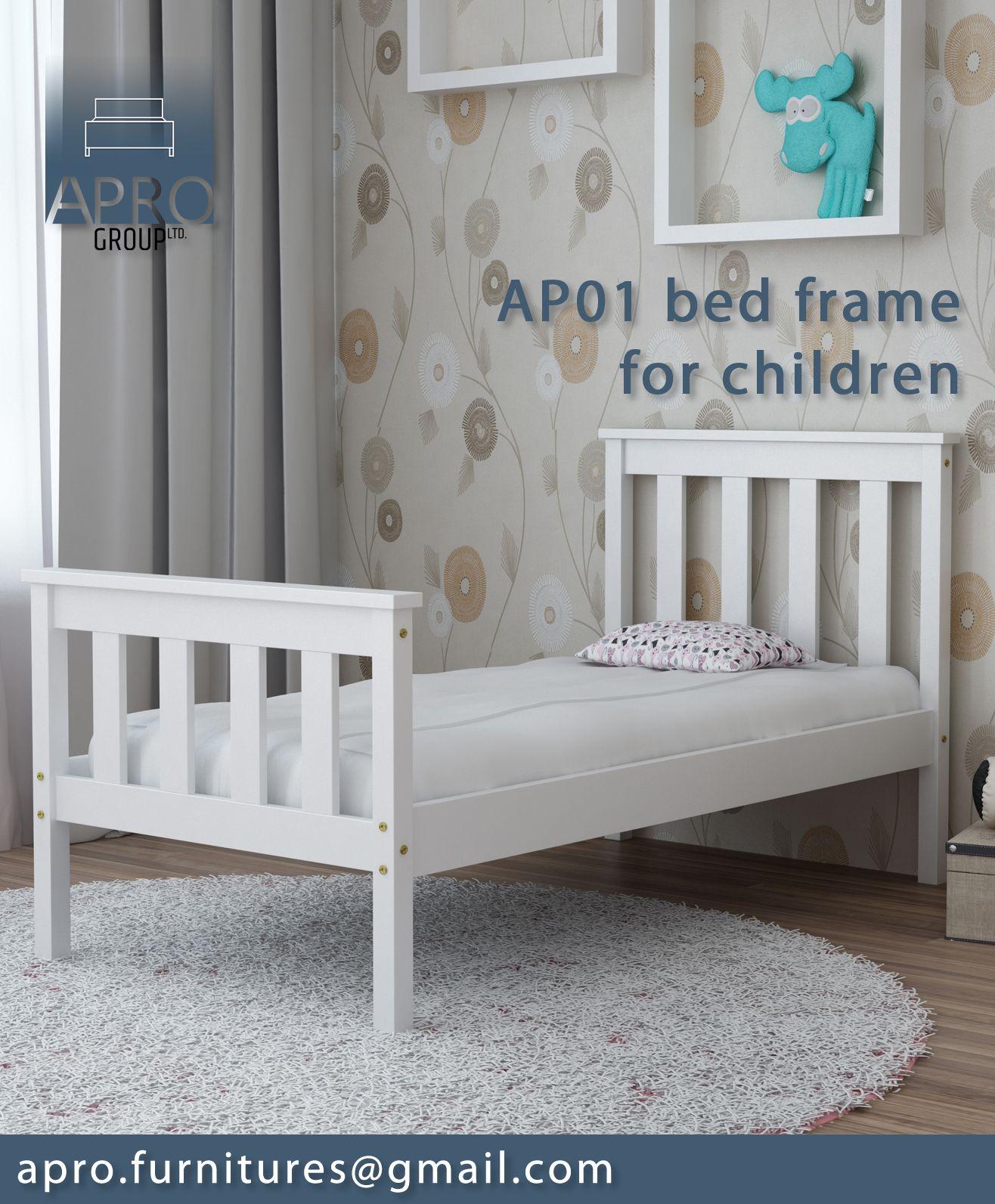 Details about Children Toddler Kids Baby Single Bed Frame Solid Pine ...