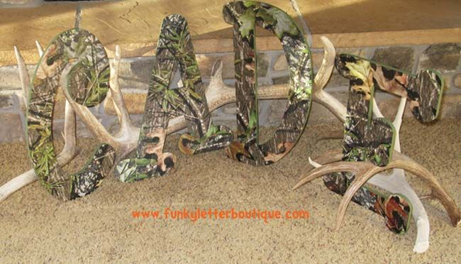 camo wall letters   must have for any boys hunting fishing Outdoor Themed Man Cave Outdoor Hunting Themed Living Room