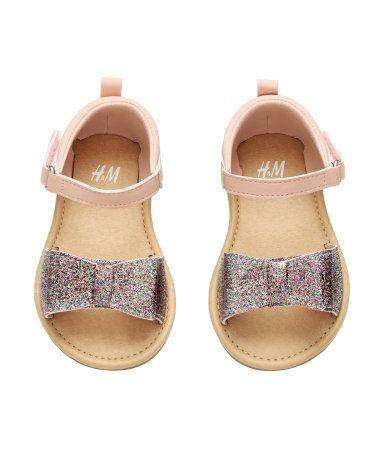 heiß-verkaufender Fachmann heiße Angebote einzigartiger Stil Sandalen mit Glitzerschleife   Puderrosa   Kids   H&M DE ...