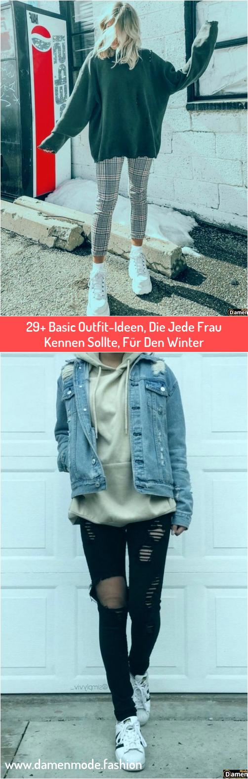 Photo of 29+ Basic Outfit-Ideen, Die Jede Frau Kennen Sollte, Für Den Winter