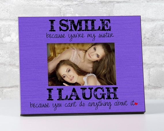 Sister Gift for Sister from Brother, Siblings Picture Frame, To ...