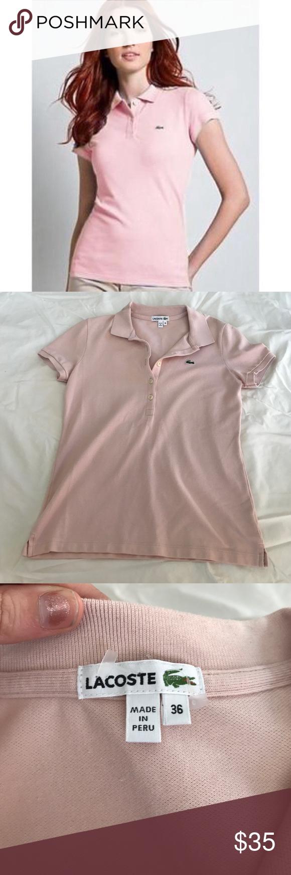 3792bd7d350b0b Lacoste Women s Baby Pink Polo