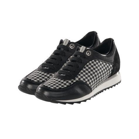 Sneaker, Materialmix, zweifarbig Vorderansicht