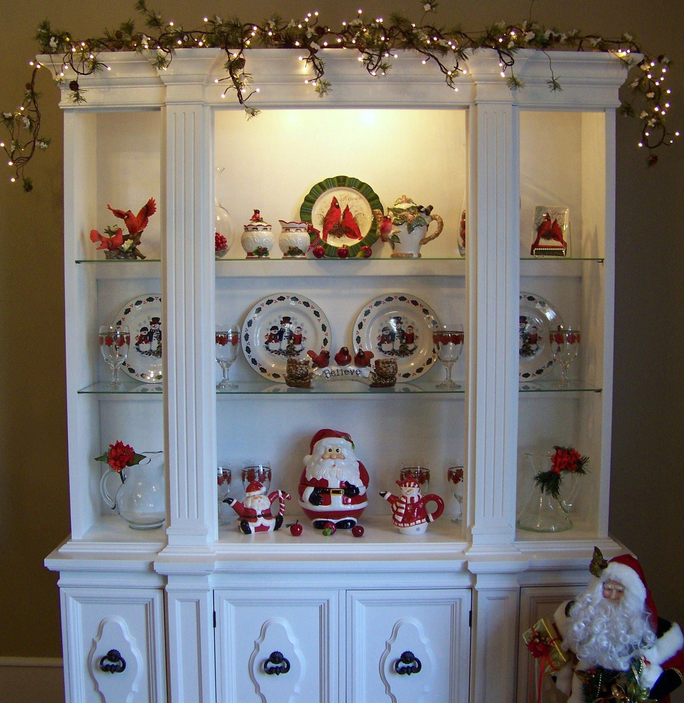 Christmas china cabinet (With images)   China cabinet ...