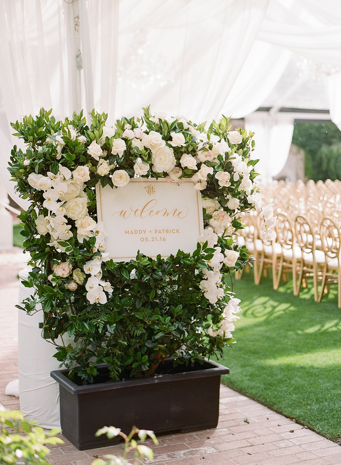 All white and gold wedding decor  Real Wedding  Maddy u Patrick  Classic Weddings  Pinterest  Real