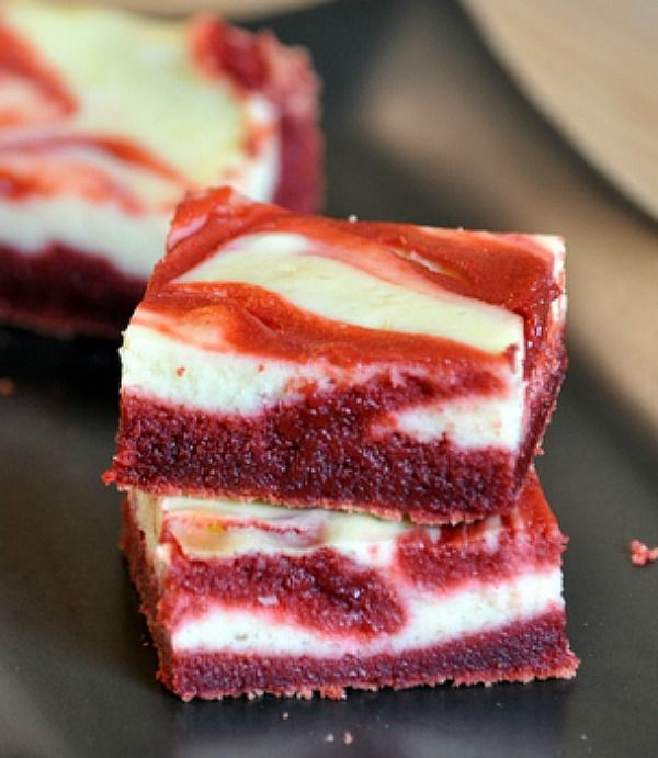 Red Velvet Cheesecake Bars (click photo for the recipe)