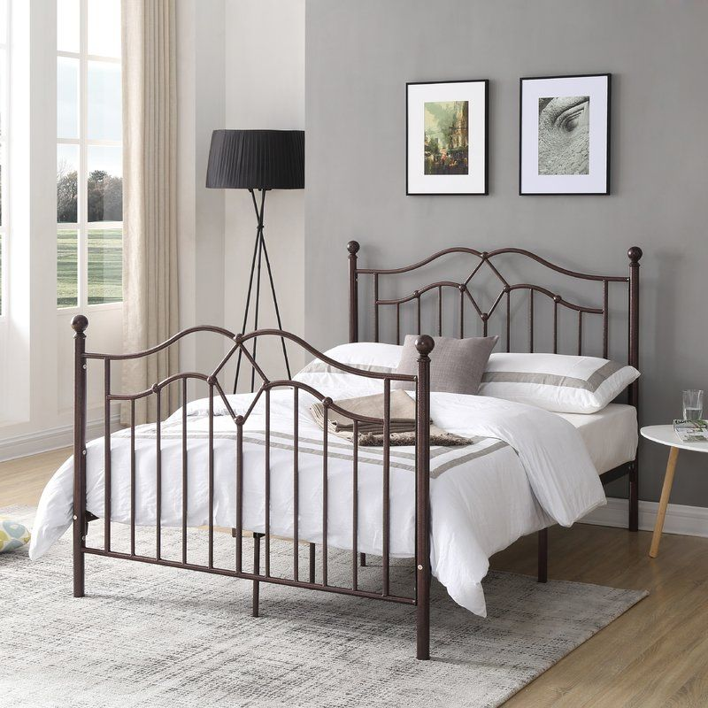 This metal bed frame makes a brilliant addition to any