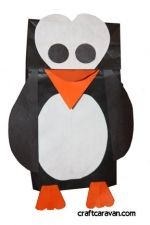 Paper Bag Penguin Puppet Use Our Template To Make This Cute