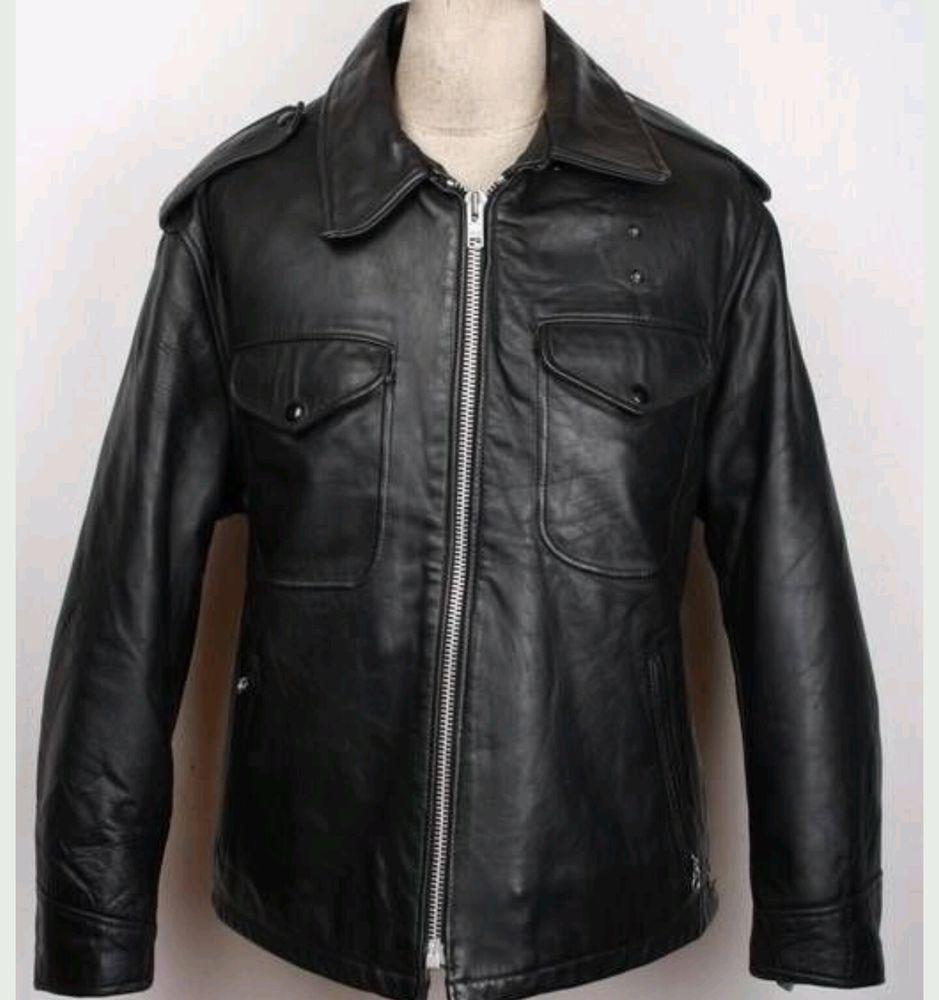 Vtg Schott Bros Perfecto Handcut Steerhide Leather Police Jacket Style 602 Sz 44 Schottbrothersperfecto Outdoor Vintage Jacket Jackets Police Jacket [ 1000 x 939 Pixel ]