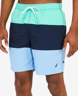 8d9b217307 Nautica Men's Big & Tall Quick-Dry Colorblocked Swim Trunks - Orange 4XLT