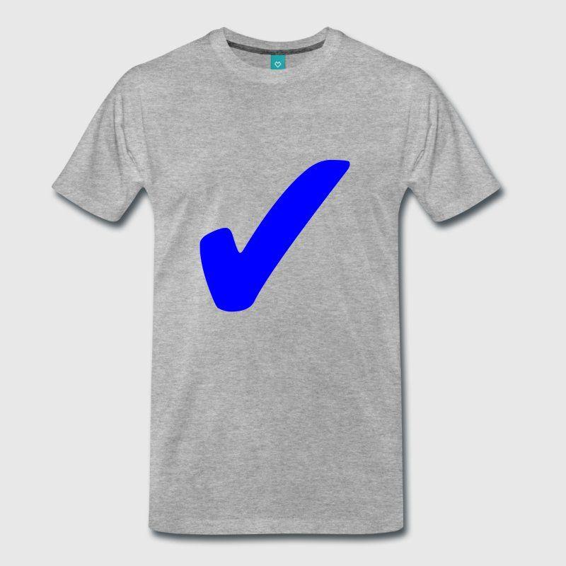 T Shirt Design Spruch Symbol Zeichen Haken Blau Männer Premium T