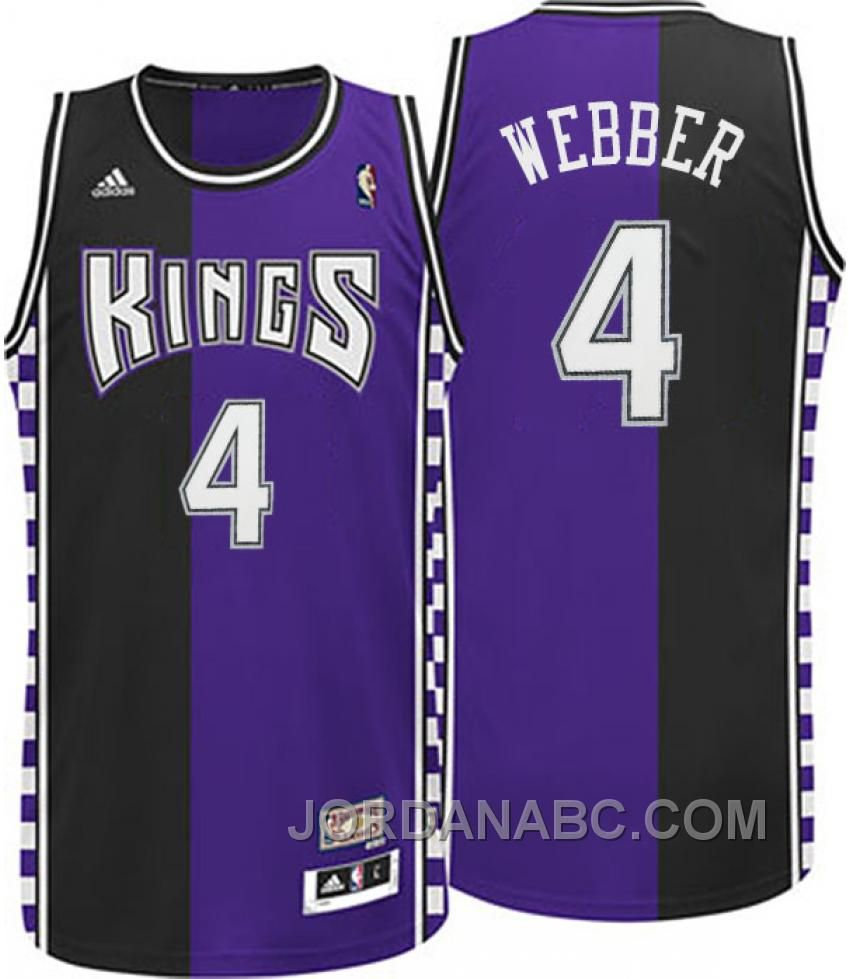 72f5dd3d2 ... Buy Chris Webber Sacramento Kings Hardwood Classic Fashion Swingman  Road Purple Jersey Christmas Deals from Reliable ...