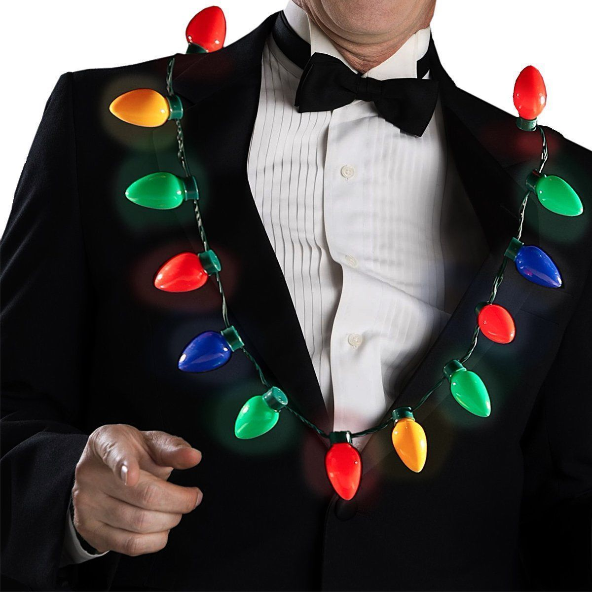 LED Light Up Christmas Bulb Necklace Party Favors for Adults or Kids Flashing | eBay