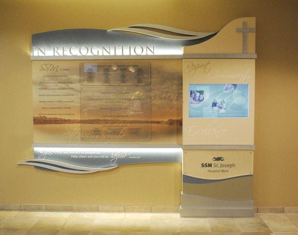 donor recognition walls, donor recognition wall, recognition walls ...