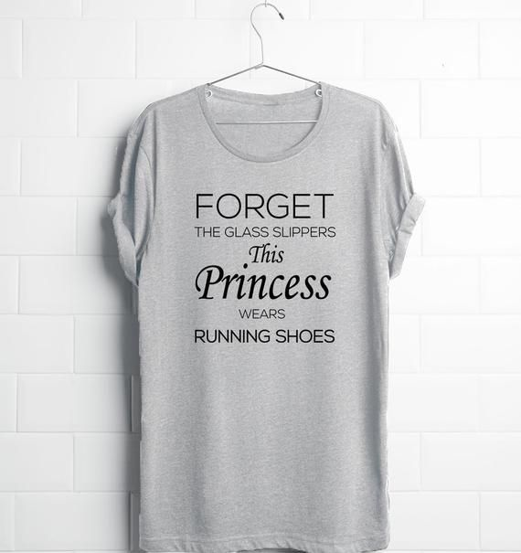 11d4cbac10 This Princess Wears Running Shoes, Funny Women Running Shirts, Women  Running Tees, Graphic Tees Wome