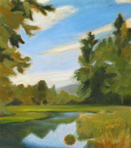 Analogous Harmony Landscape Painting By Maggie Sharkey Plein Air