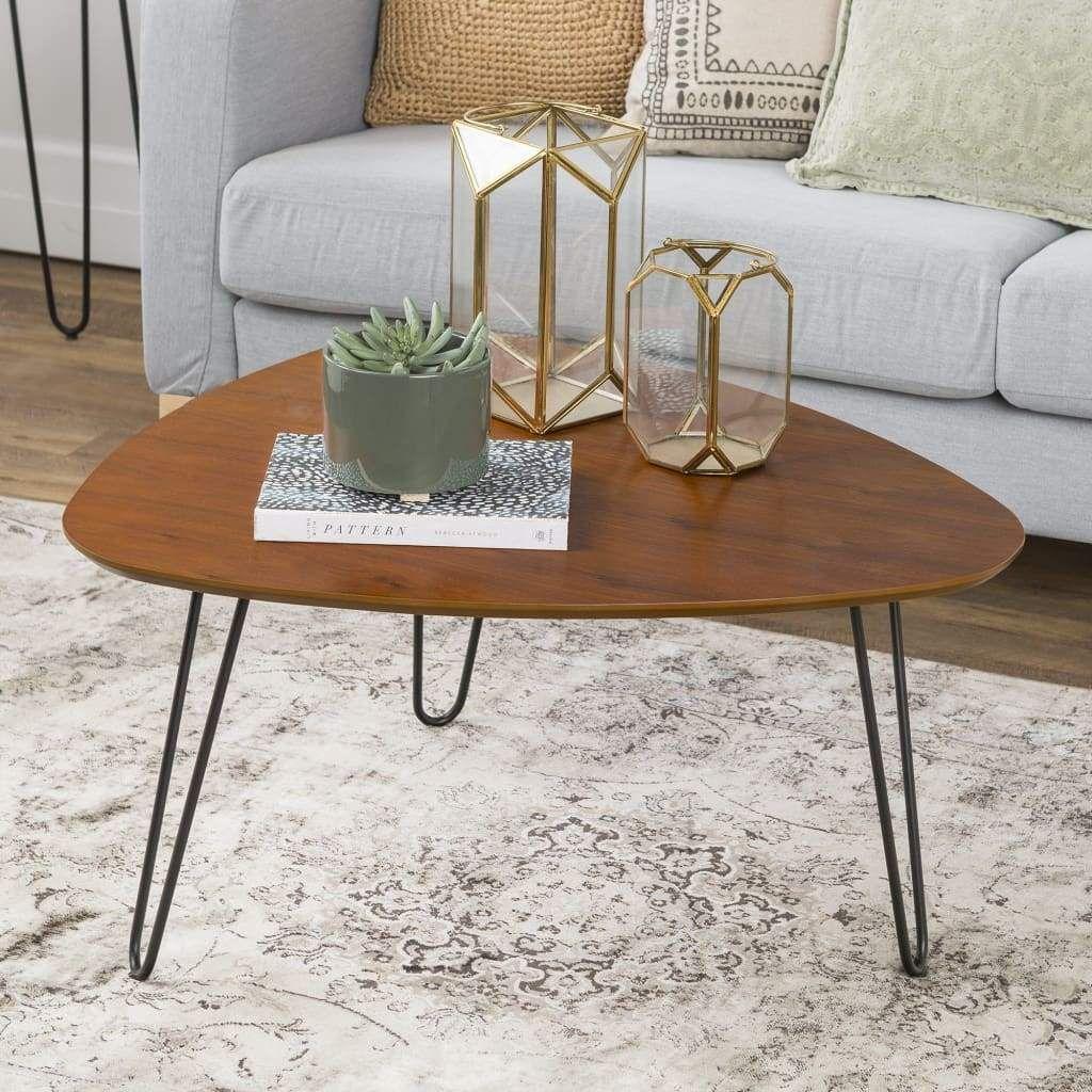 32 Mid Century Hairpin Leg Wood Coffee Table Walnut Mid Century Coffee Table Hairpin Leg Coffee Table Coffee Table [ 1024 x 1024 Pixel ]