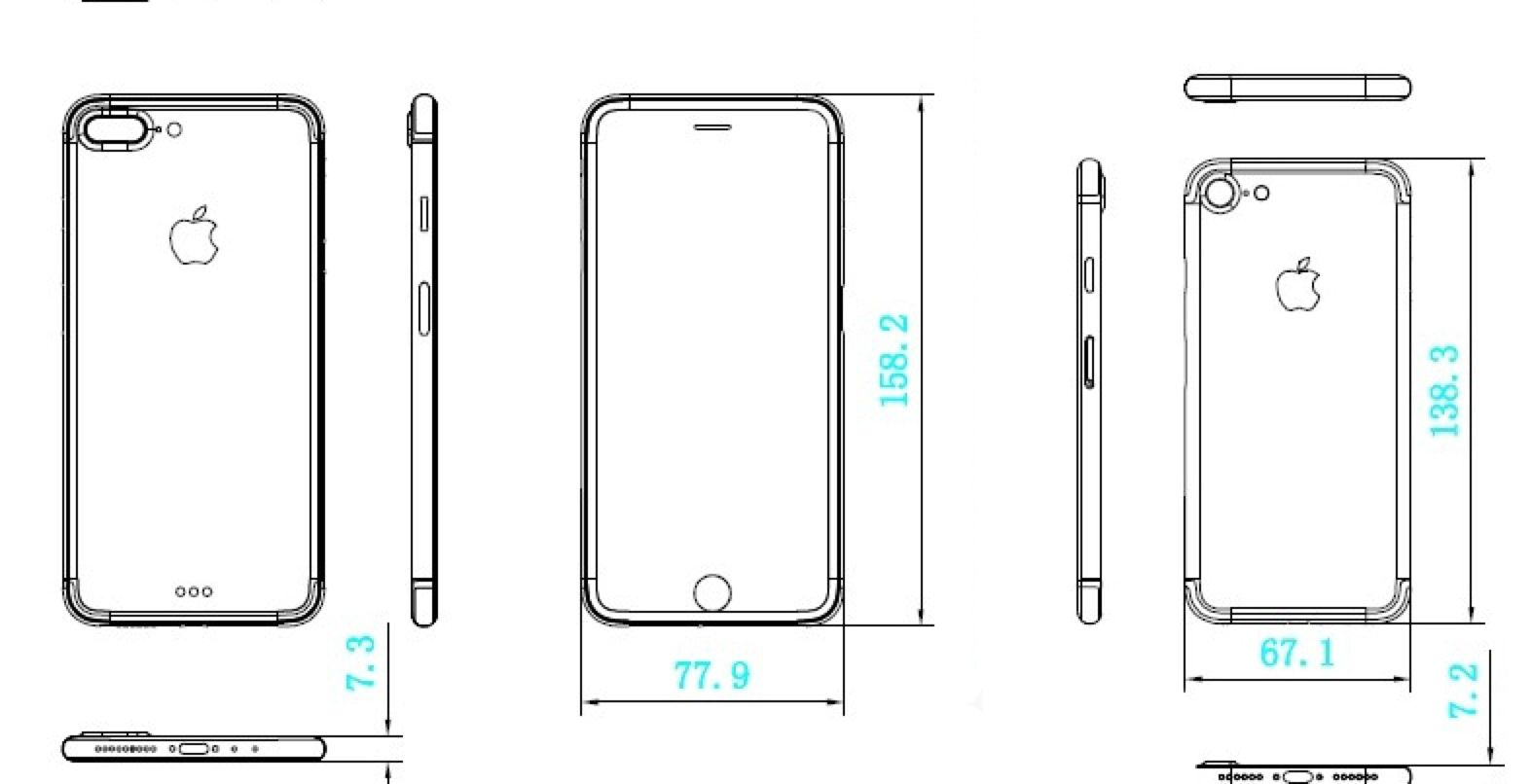 New iPhone 7 schematics suggest similar dimensions