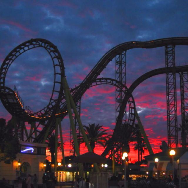 oh how i love roller coasters d even better during sunsets or in rh pinterest com