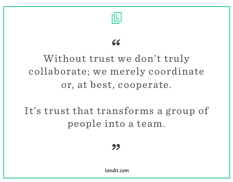 how to regain trust at work