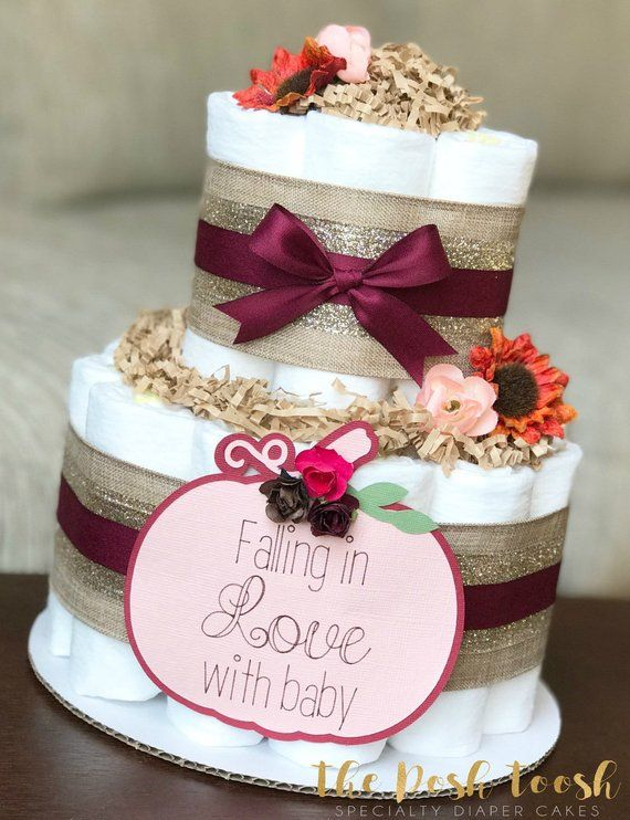 fall floral pumpkin diaper cake baby shower centerpiece decor fall rh pinterest com