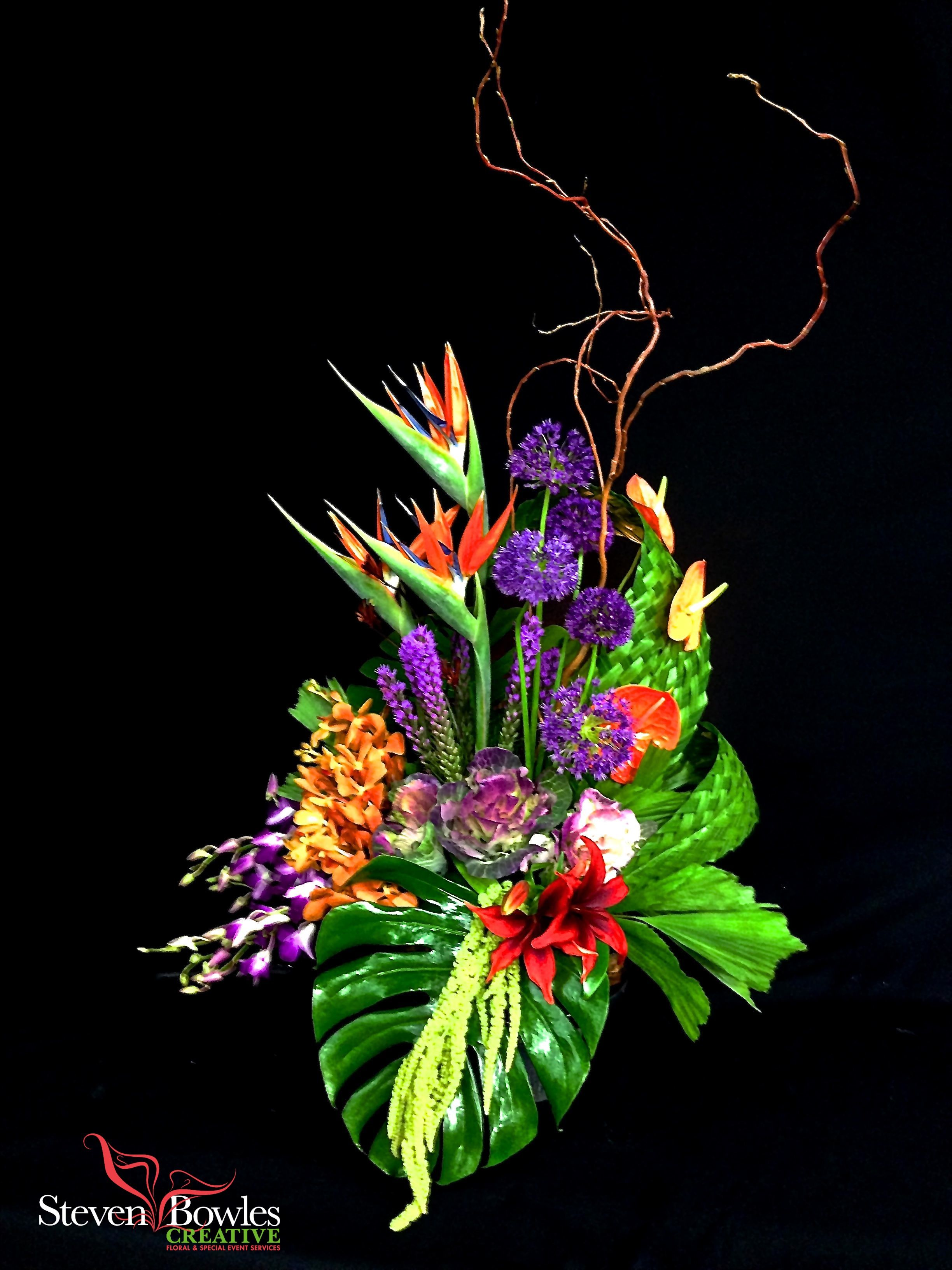 Tropical flower arrangement large