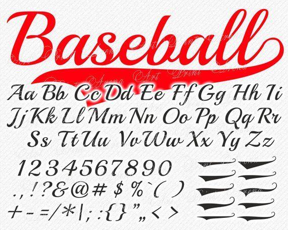 Baseball Font Svg Svg Fonts Baseball Svg Font Sport Etsy In 2020 Baseball Font Baseball Fonts Free Baseball Letters