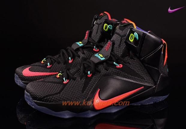 finest selection 7dbde b6943 ... czech nike lebron 12 black bright mango hyper punch volt 684593 068  mens online outlet 94f52