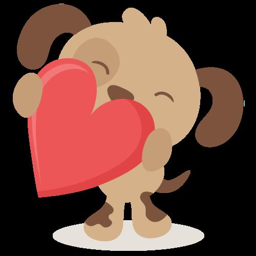 Download Valentine puppy SVG file for scrapbooking   Dog valentines ...
