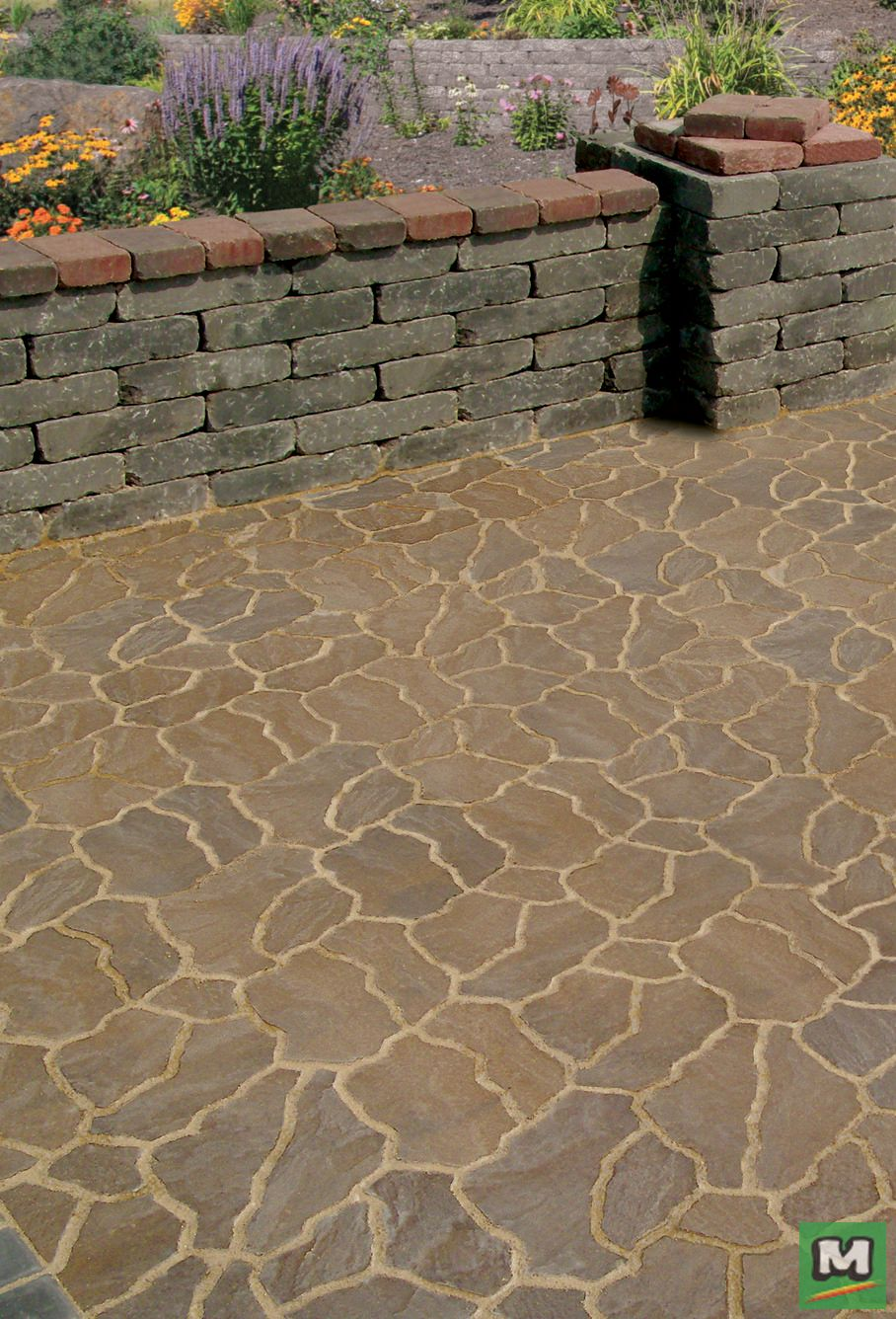 These 14 X 11 Flagstone Pavers Provide A Unique Look And Are Perfect For Walkways Patios And Dr Landscaping Inspiration Landscape Materials Flagstone Pavers