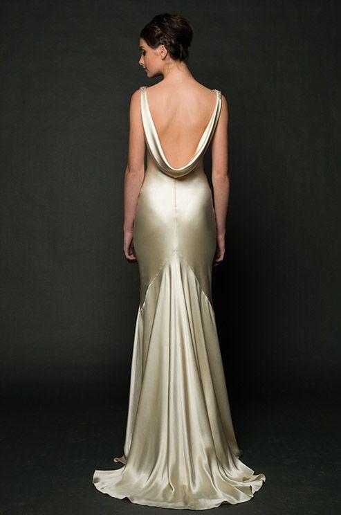 Gold & sexy wedding dress. Sarah Janks, 2014