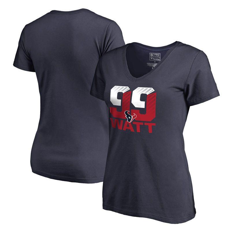 ac27f85c8 J.J. Watt Houston Texans NFL Pro Line Women's Hometown Collection Name &  Number T-Shirt - Navy