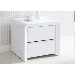 ice high gloss 2 drawer bedside white bedside tables furniture rh pinterest com