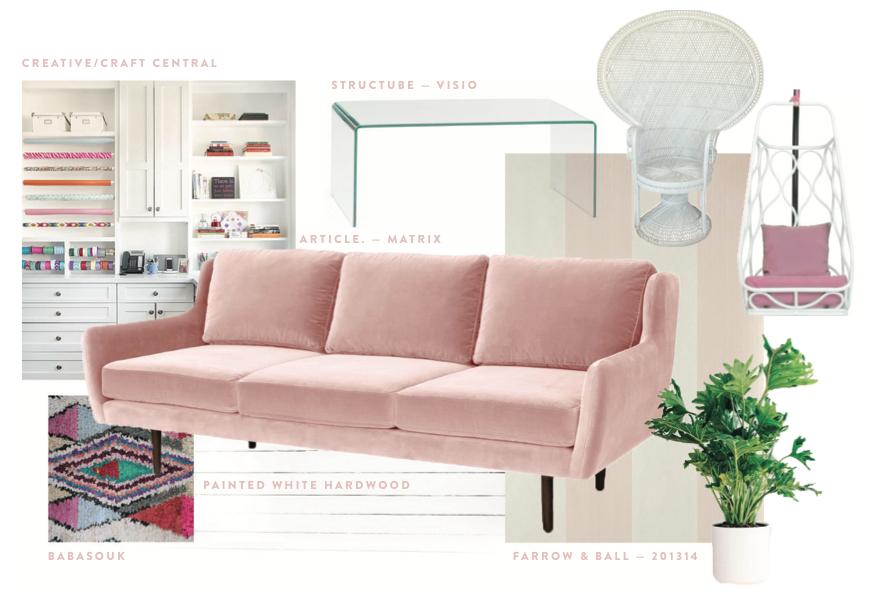 Tiffany\'s Creative Living Room Space - Mood board featuring Matrix ...
