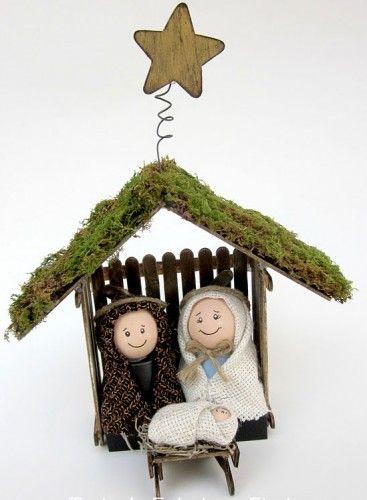 Manualidades navideñas: Pesebre o Nacimiento | Pesebres de Pinterest ...