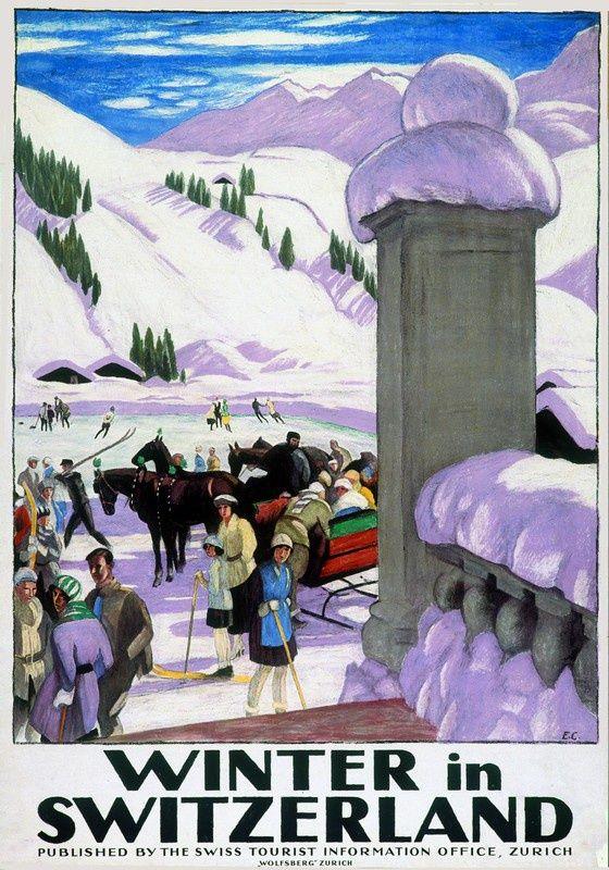 SWITZERLAND 🇨🇭 GENERAL        Winter in der Schweiz by Emil Cardinaux
