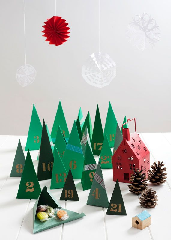 Geometric Tree Advent Calendar paper Christmas Christmas Decor