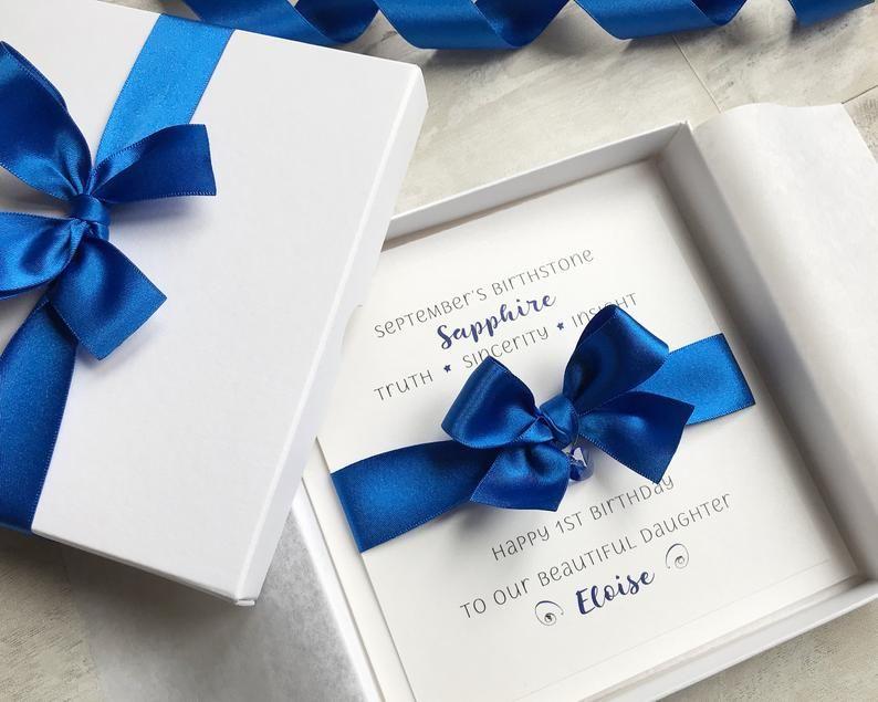 Sapphire Birthstone Luxury Birthday Card For September Etsy Luxury Birthday Cards Unique Birthday Cards Birthday Cards