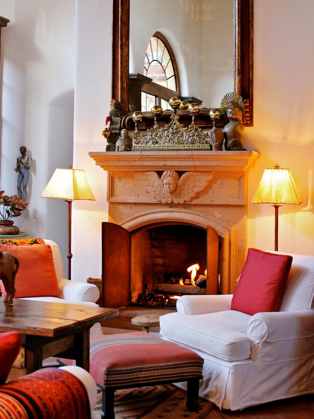 Hgtv This Spanish influenced living room features