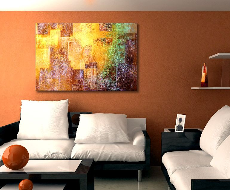 Kingdom Within Abstract Art On Canvas By Jaison Cianelli