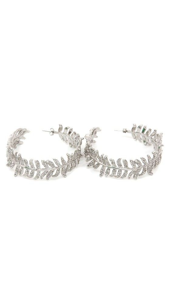 Luxe Pave Feather Hoops