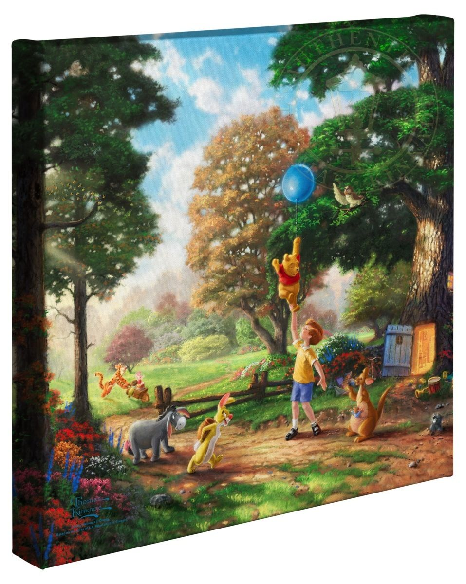 Thomas Kinkade Studios Winnie the Pooh I 14 x 14 Gallery Wrapped Canvas Disney
