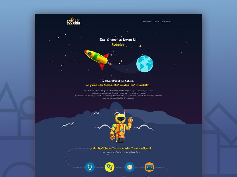 Website for educational project  by Florentina Sarov