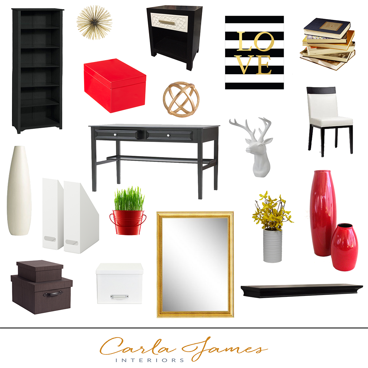 red black home office. Carla James Interiors (CJI) Is A Residential Design Firm That Specializes In Using E. Red BlackBlack GoldDesign FirmsHome Black Home Office I